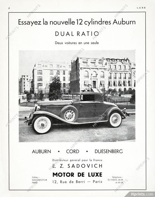 Auburn 1932 E. Z. Sadovich — Automobiles — Advertisements