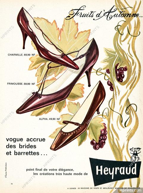 Publicité Femme — Originale Heyraudshoes1962 Chaussures Ancienne 7yfb6gY