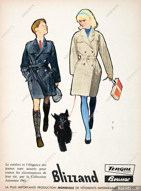 Blizzand (Clothing) 1961 René Gruau, Scottish Terrier