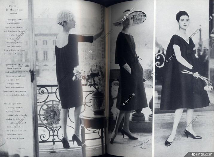 Vogue UK 1958 April, Photo Claude Virgin, Pierre Cardin