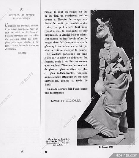 6b668b0136c097 Louise de Vilmorin 1949 La Couture à Paris, Le Train de la ...